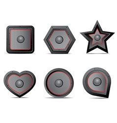 Amp speaker icon set vector