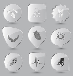 armchair cardiogram dna eye heart human hands vector image