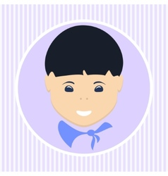 Asian boy vector image