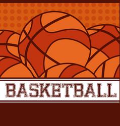 basketball sport balls vector image