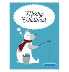 Bear cartoon of Christmas season design vector