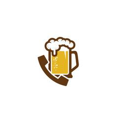 Beer call logo icon design vector