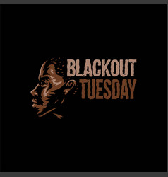 blackout tuesday vector image