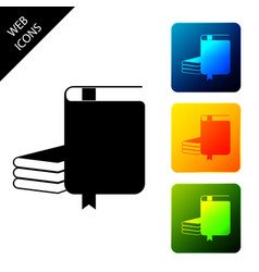 book icon isolated set icons colorful square vector image