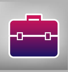 briefcase sign purple vector image