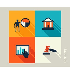 Business icon set Software and web development vector image