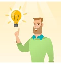 Businessman having business idea vector image