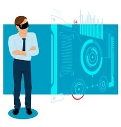 Businessman In The Future vector