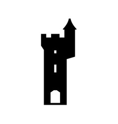 castle fortress tower vector image