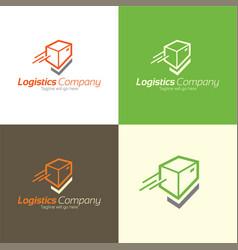 Check mark logistics logo and icon vector