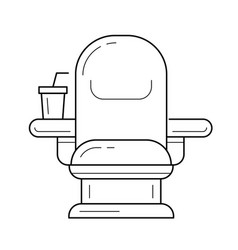 cinema chair line icon vector image