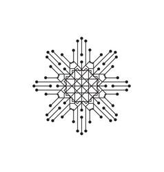 Circuit design symbol logo technology vector