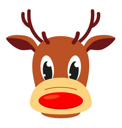 colorful cartoon reindeer head vector image