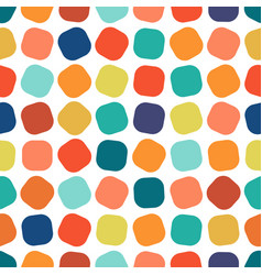 Colorful square seamless geometric pattern vector