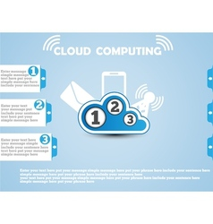 COULD COMPUTING WEBSITE BLUE vector