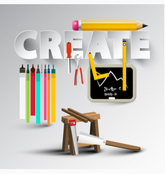 create design with creative tools vector image