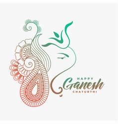 creative ganesha ji design for happy ganesh vector image