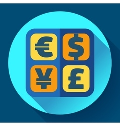 Currency exchange sign icon and converter symbol vector image