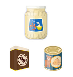 design of can and food icon collection of vector image