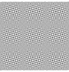 Design seamless monochrome warped checked pattern vector