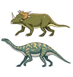 Dinosaur triceratops barosaurus apatosaurus vector