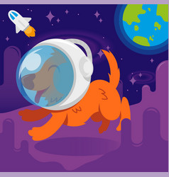 Dog astronaut vector