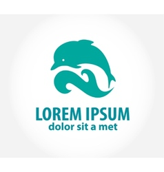 Dolphin icon design element vector image