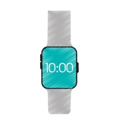 Drawing smart watch wearable technology vector
