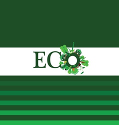 eco word for background vector image