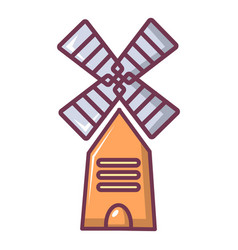 Farm windmill icon cartoon style vector