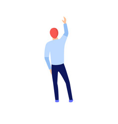 flat people with hand up vector image