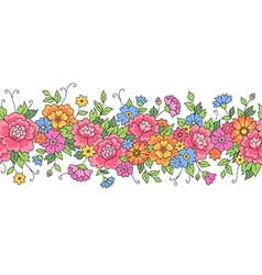 Floral design border vector
