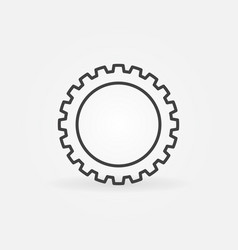 Gear or cog linear concept icon or logo vector