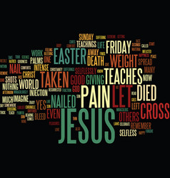 Good friday and easter text background word cloud vector