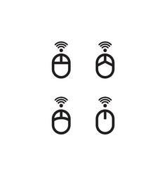 Icon set mouse computer vector