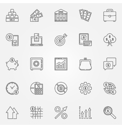 Investment icons set vector