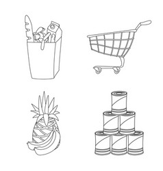 Isolated object of food and drink icon collection vector
