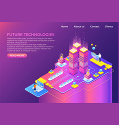 isometric technology concept business 3d vector image