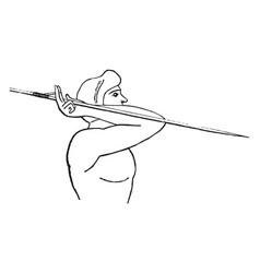 Javelin amentum vintage vector