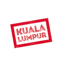 Kuala Lumpur rubber stamp vector
