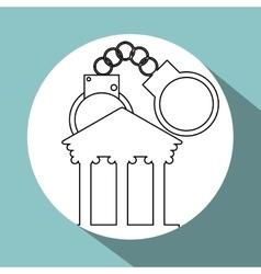 Law design Justice icon Grey background vector
