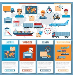 Logistic And Transportation Concepts vector image