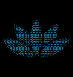 lotus flower collage icon of halftone bubbles vector image