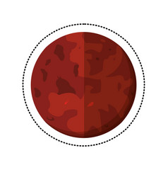 Mars planet space shadow vector