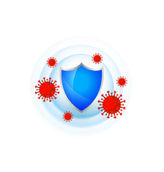 Medical protection shield with good immune system vector