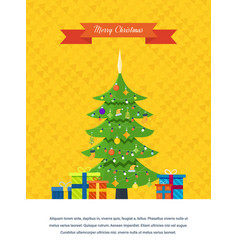 Merry christmas atmosphere of the new year vector
