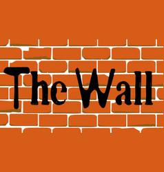 Mexican wall graffiti vector