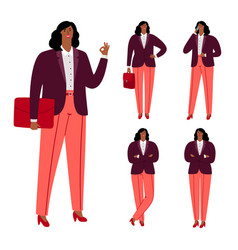 modern afro american businesswoman vector image