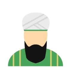 Muslim man flat icon vector