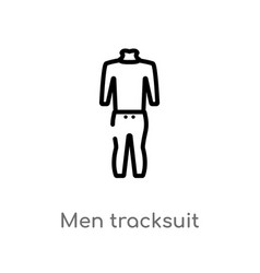 Outline men tracksuit icon isolated black simple vector